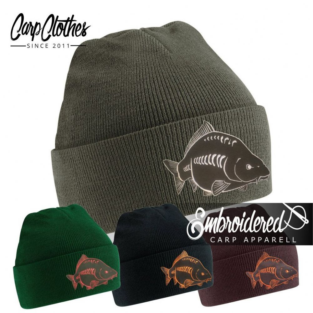 026 EMBROIDERED CARP BEANIE